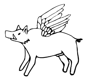 Flying pig, Medieval-style